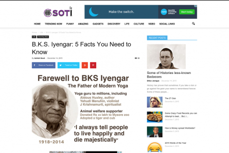 B.K.S. Iyengar: 5 Facts You Need to Know Infographic
