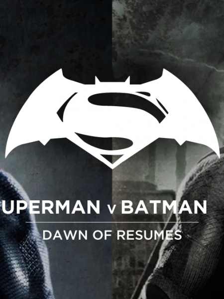 Batman v Superman: Dawn of Résumés Infographic