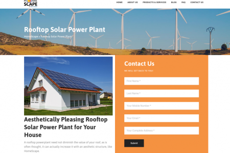 Beautifully design Residential solar power plants Infographic