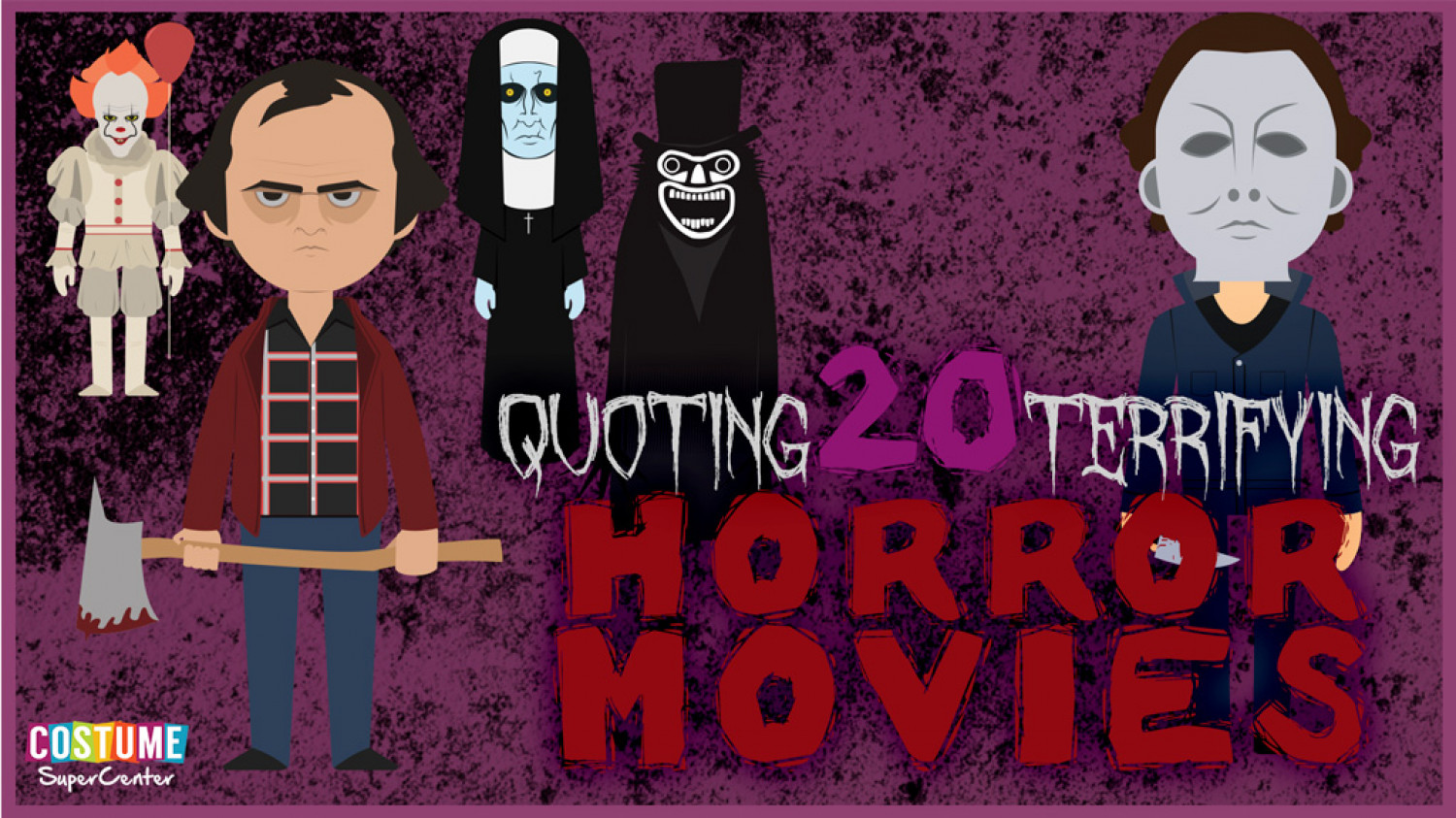 Best 20 Horror Movie Quotes of All Time Infographic