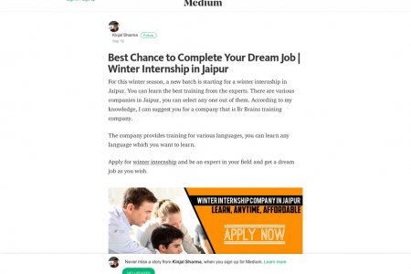 Best Chance to Complete Your Dream Job | Winter Internship in Jaipur Infographic