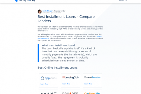 Best Installment Loans – Compare Lenders Infographic