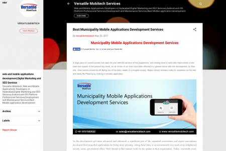 Best Municipality Mobile Applications Development Services Infographic