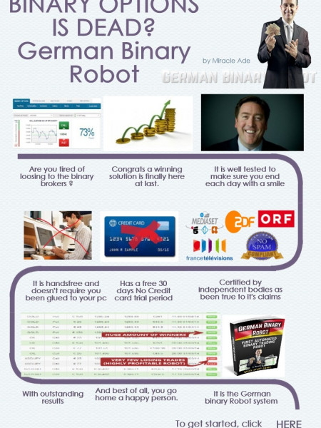 Binary Option Is Dead: German Binary Robot Infographic