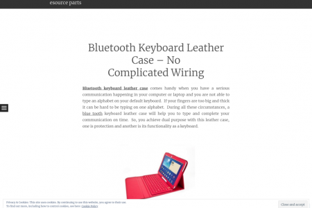 Bluetooth Keyboard Leather Case – No Complicated Wiring Infographic