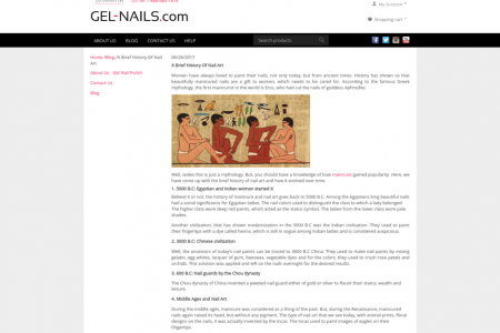 Brief History Of Nail Art Infographic