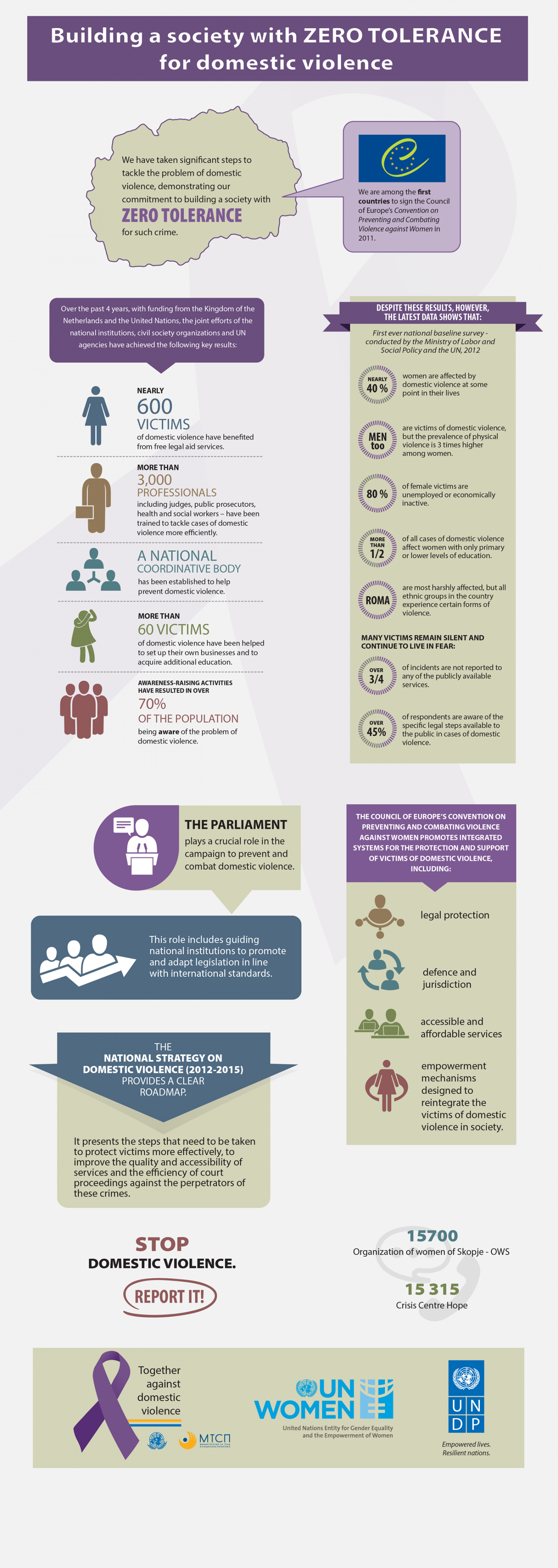 Building a society with ZERO TOLERANCE for domestic violence Infographic
