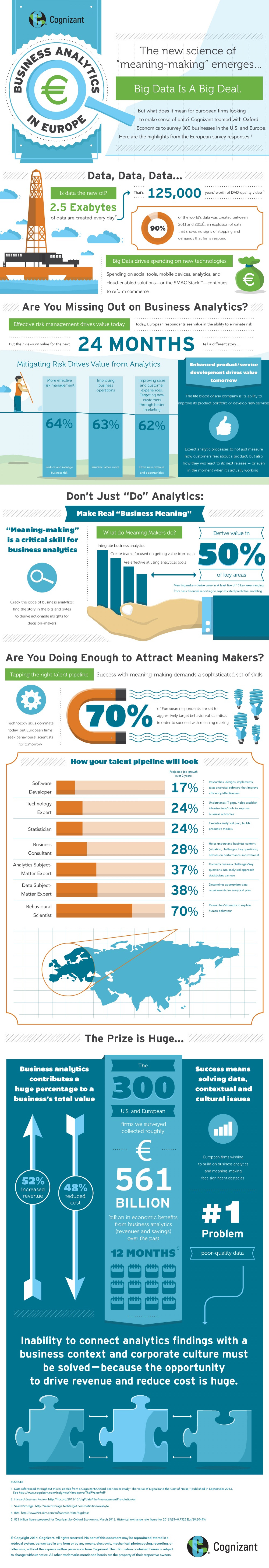 """Business Analytics in Europe: The New Science of """"Meaning-Making"""" Emerges... Infographic"""
