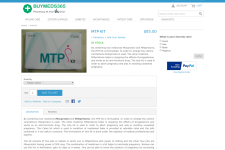Buy MTP Kit Online | Mifepristone and Misoprostol Infographic