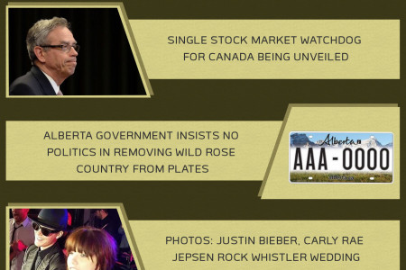 CANADIAN NEWS HEADLINES - July 9, 2014 Infographic
