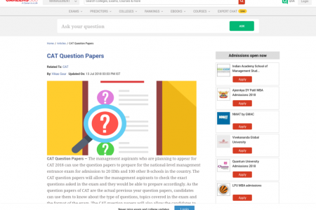 CAT Question Papers Infographic
