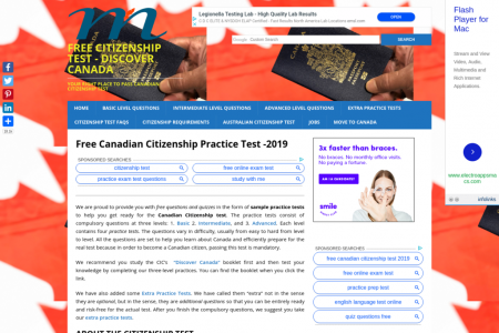 Canadian Citizenship Test Infographic