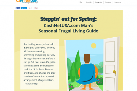 CashNetUSA.com Man's Seasonal Frugal Living Guide: Spring  Infographic
