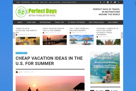 Cheap Vacation Ideas in the U.S. for Summer Infographic