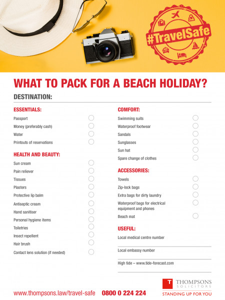 Checklist: What to Pack for a Beach Holiday Infographic