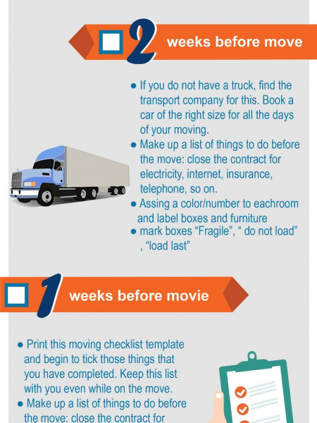 Checklist  for moving Infographic
