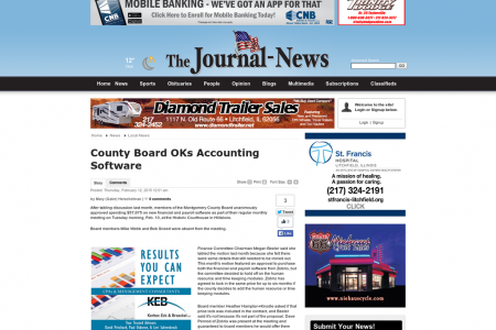 Cheyney Group Accounting Software Review: County Board OKs Accounting Software Infographic