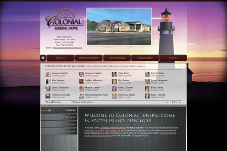 Colonial Funeral Homes Infographic