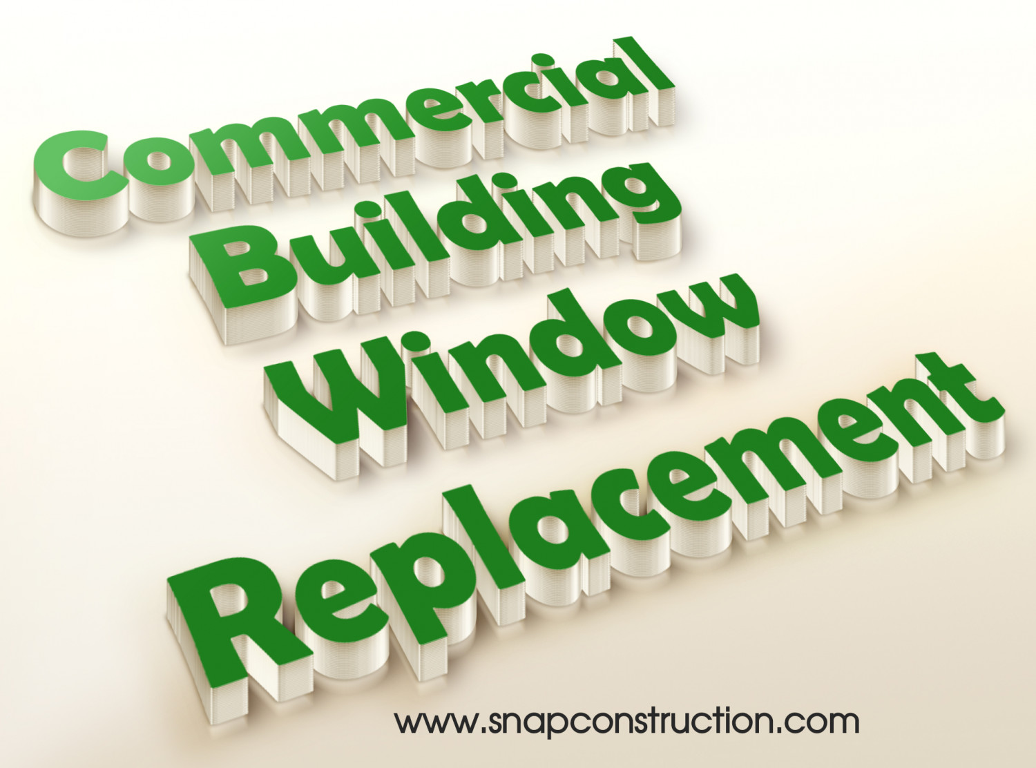 Commercial Building Window Replacement Infographic