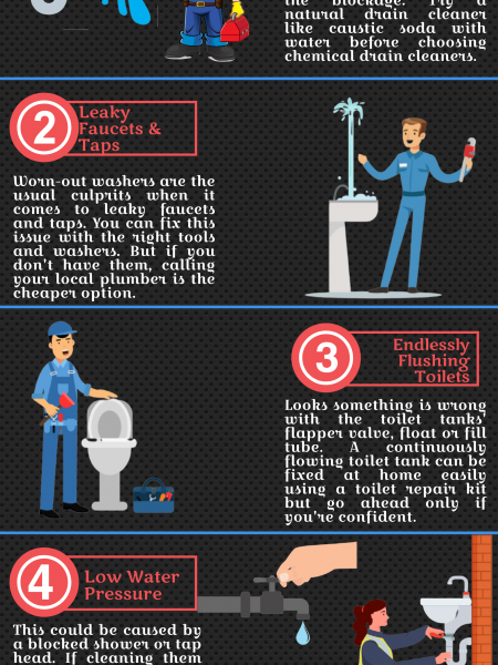 Common Plumbing Problems & their Solutions Infographic