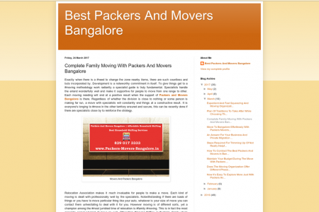Complete Family Moving With Packers And Movers Bangalore  Infographic