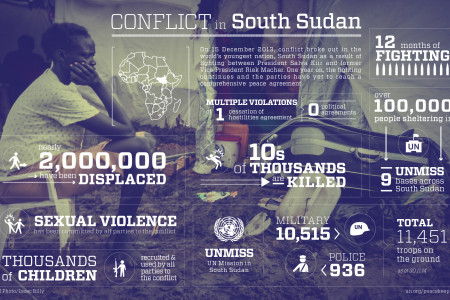 Conflict in South Sudan Infographic