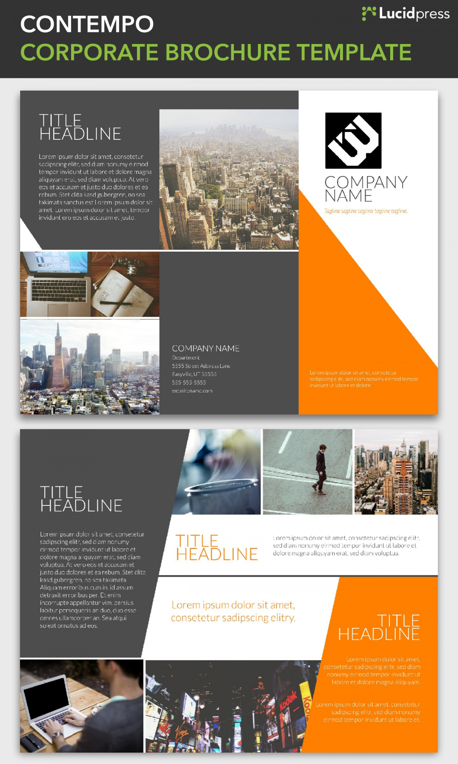 company brochure template - corporate brochure template lucidpress