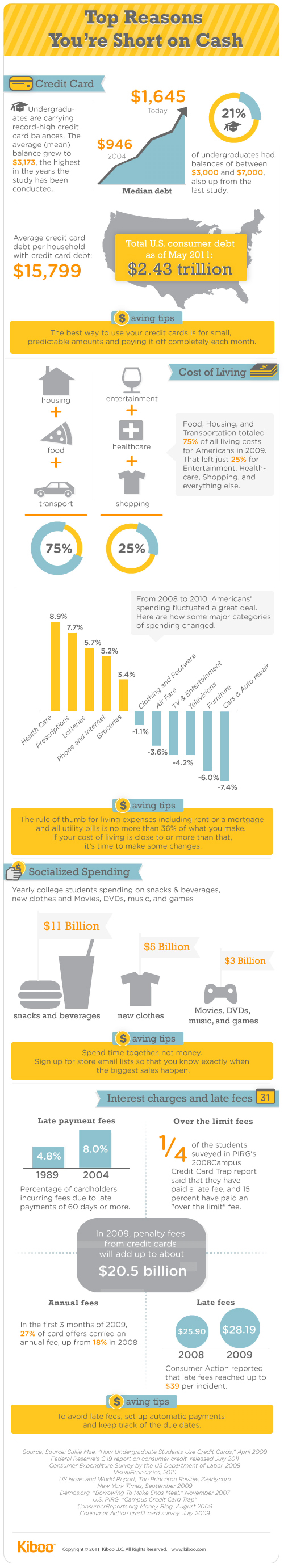 Cost of things and Interests  Infographic