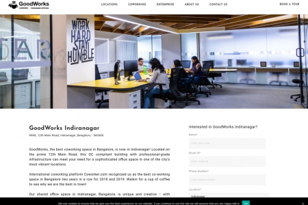 Coworking office Space In Indiranagar | Shared & Private Offices Rentals | Bangalore India Infographic