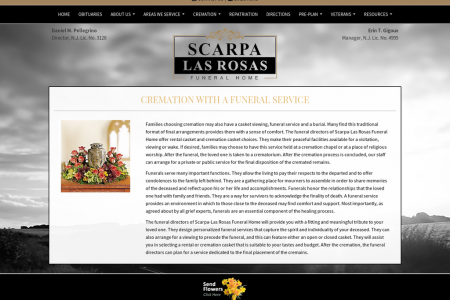Cremation With a Funeral Service In Scarpa-Las Rosas Funeral Home Infographic