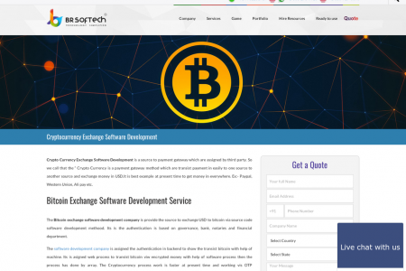 Cryptocurrency Exchange Software Development Service in India Infographic