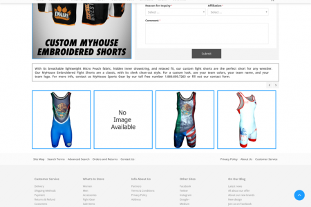 Custom Embroidered Fight Shorts Infographic