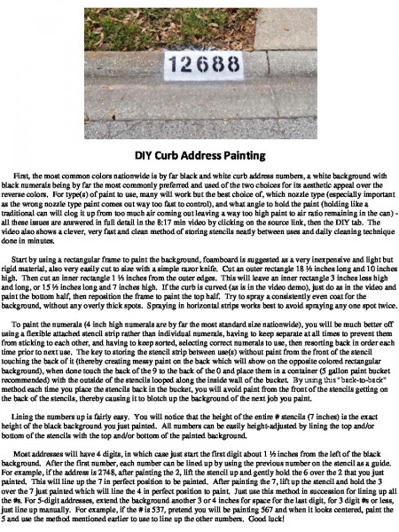 DIY Curb Address Number Painting Infographic