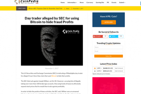Day trader alleged by SEC for using Bitcoin to hide fraud Profits Infographic