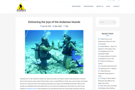 Delivering the Joys of the Andaman Islands Infographic
