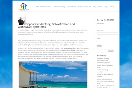 Dependent drinking, Detoxification and Withdrawal symptoms Infographic