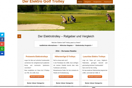 Der Elektro Golf Trolley Infographic