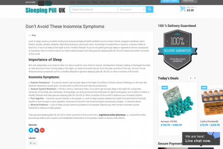 Don't Avoid These Insomnia Symptoms Infographic