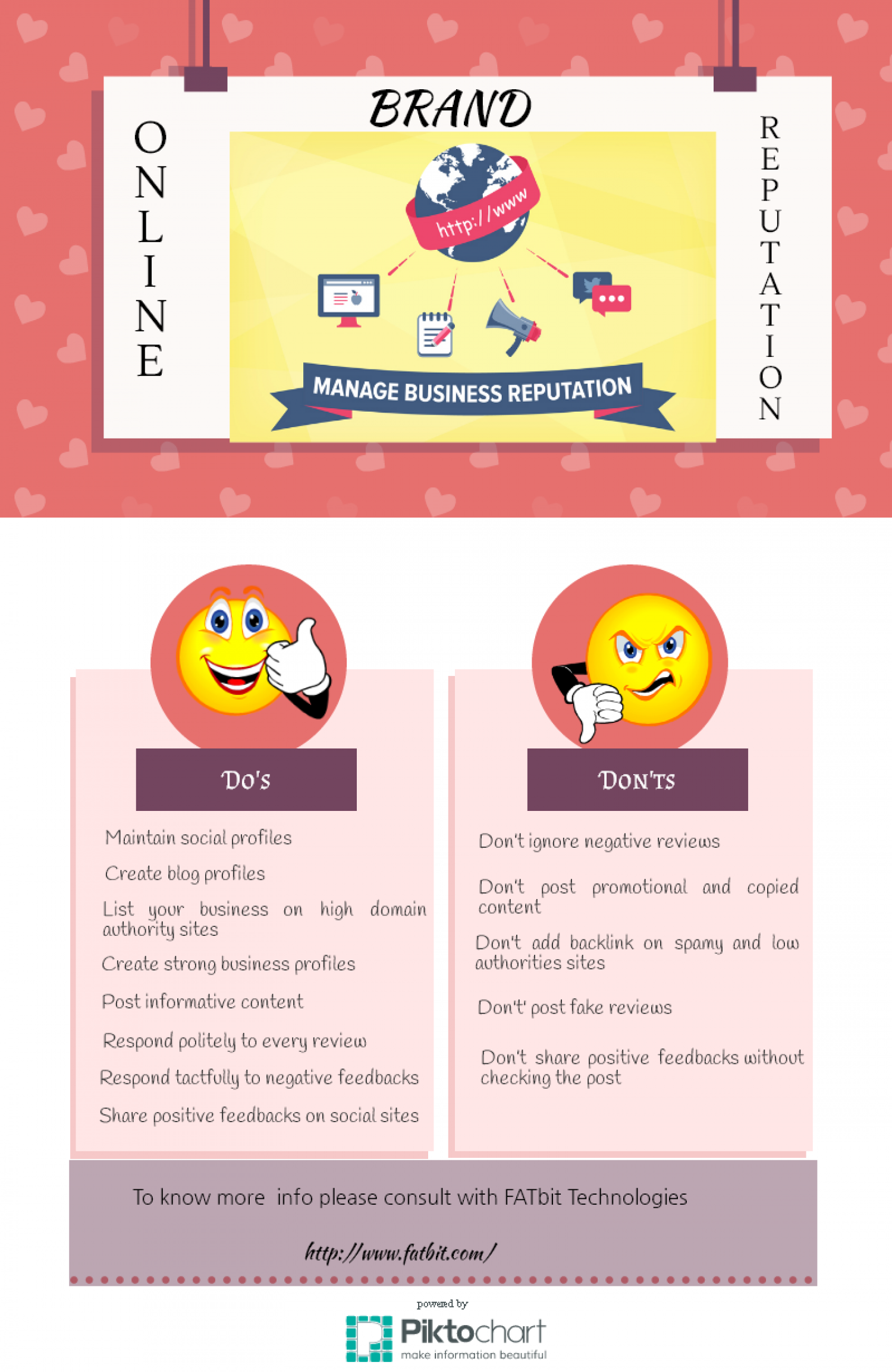 Do's and Don'ts of Online Reputation Management Infographic