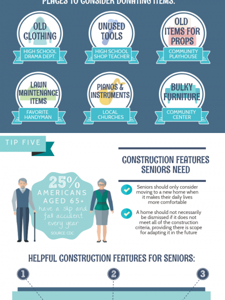 Downsizing Tips for Seniors  Infographic