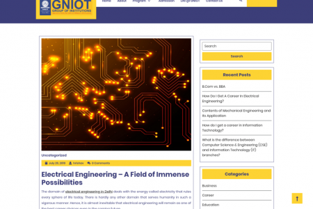 Electrical Engineering – A Field of Immense Possibilities Infographic