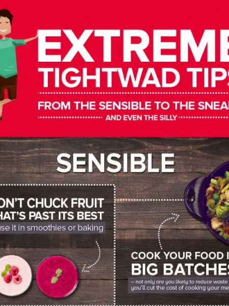 Extreme Tightwad Tips Infographic