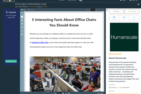 FACTS ABOUT ERGONOMIC CHAIR  Infographic