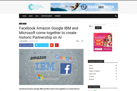 Facebook Amazon Google IBM and Microsoft come together to create historic Partnership on AI Infographic