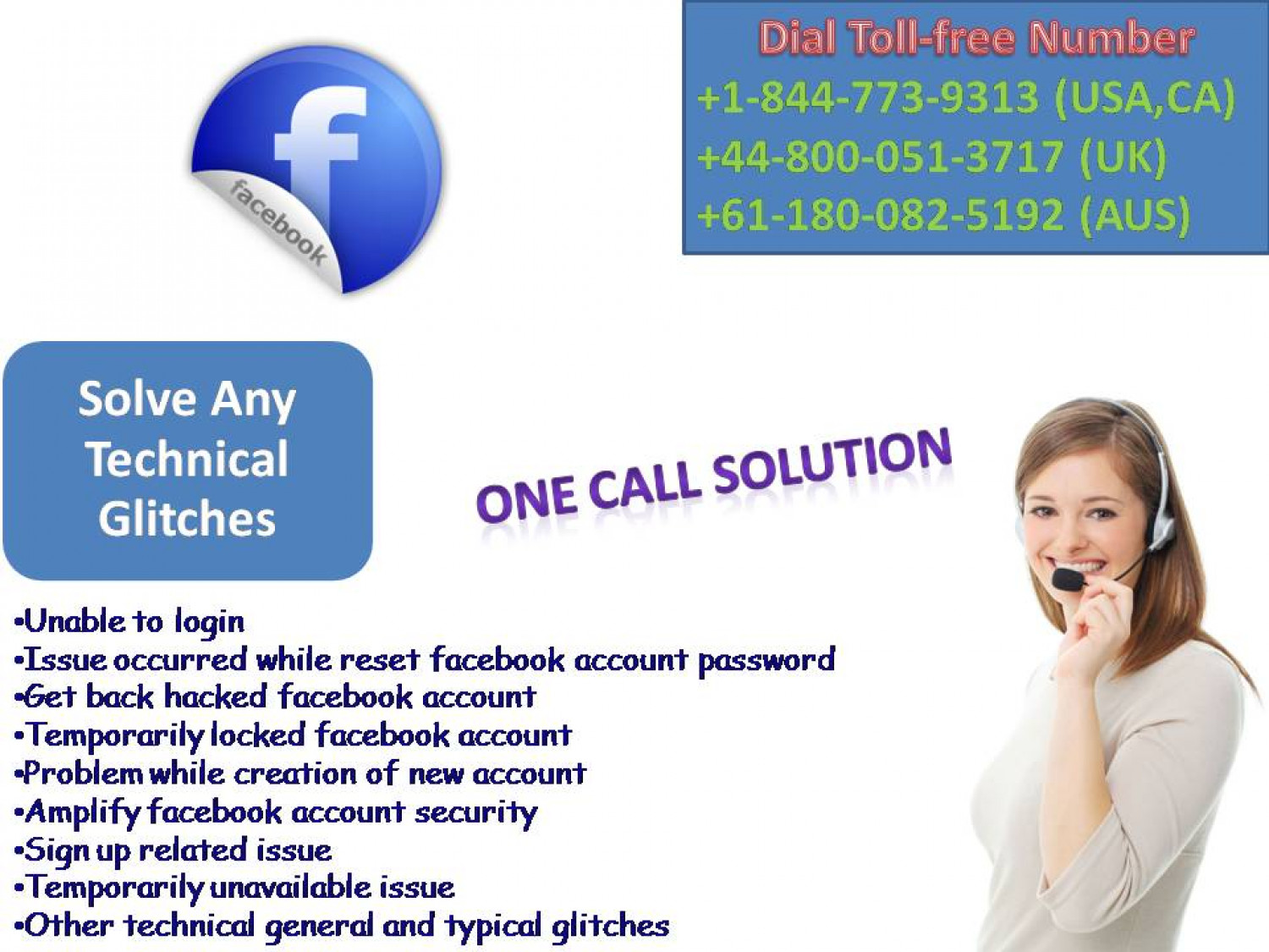 Facebook Customer Support Number@+1-844-773-9313 Infographic