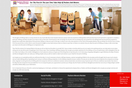 For The First Or The Last Time Take Help Of Packers And Movers Infographic