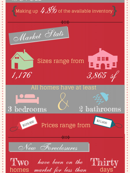Foreclosures in Perry GA for May 2014 Infographic