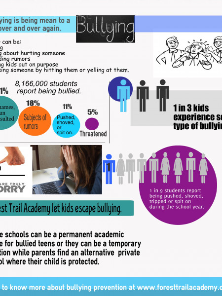 Forest Trail Academy let kids escape bullying Infographic