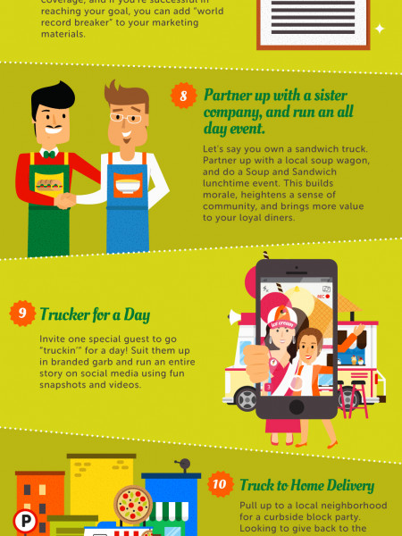 Forks Up for Food Trucks! 11 Creative Marketing Campaigns for New Truckers  Infographic