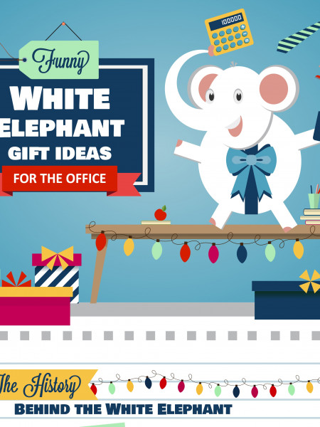 Funny White Elephant Gift Ideas for the Office Infographic